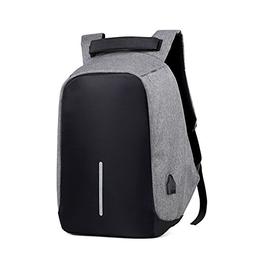 2017 New Oxford Cloth DOXUNGO Unisex USB Charging Port (up to 17 inches) Laptop Backpack College Backpack Briefcase Bag Backpack Business Bag [anti-theft] (gray)
