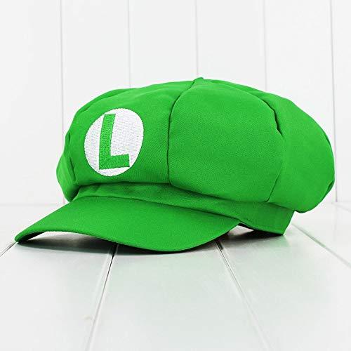 e Accessories - Super Mario Odyssey Cosplay Hat Luigi Bros Baseball Octagonal Caps Anime Accessories Women Men Mario Cap 1 PCs ()