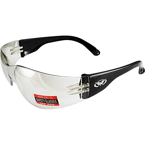 Global Vision Rider Safety Glasses, Clear Mirror (Qty 1)
