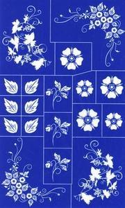Rub N Etch Stencil - Floral -