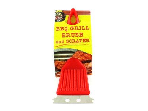 96 Packs of bbq grill brush w/ scraper plastic by bulk buys