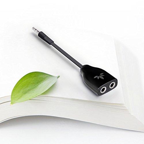 Avantree 3.5mm Headphone Jack Splitter, Stereo Earbuds Y Adapter iPhone, and Black