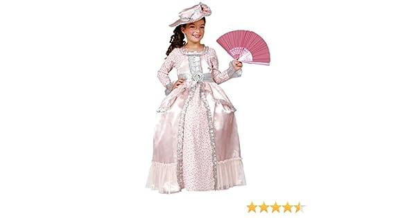 César - Disfraz de Maria Antonieta con abanico y sombrero (de 5/7 años): Amazon.es: Juguetes y juegos