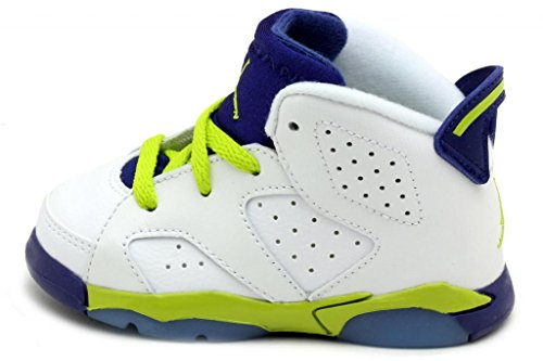 Nike Jordan 6 Retro GT White/Deep Blue/Hyper Pink/Fierce Green 645127-108 (SIZE: 6C) by NIKE