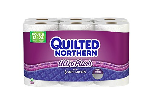 Quilted Northern Ultra Plush Toilet Paper, Bath Tissue, 12 Double Rolls