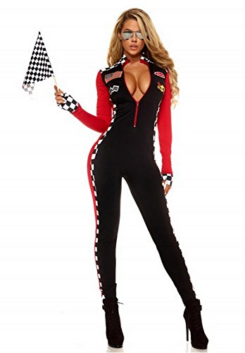 Wonder Lingerie Plus Women's Racing Sport Driver (Racing Girl Halloween Costume)