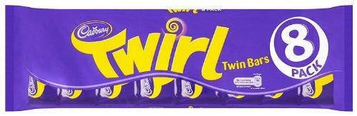 Cadbury Twirl 8 Bars (Pack of 4, Total 32 Bars) (Chocolate Twirl)