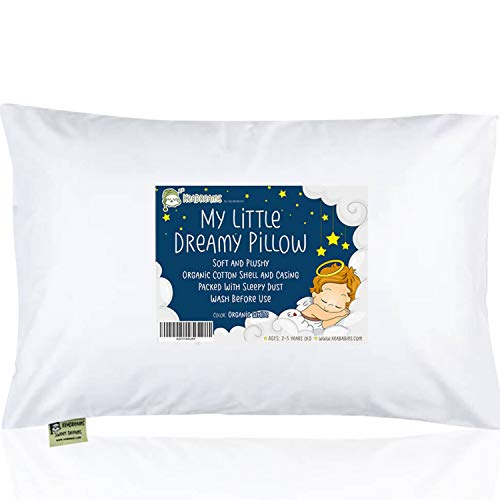 KeaBabies Toddler Pillow with Pillowcase - 13X18 Soft Organic Cotton Baby Pillows for Sleeping - Machine Washable - Toddlers, Kids, Infant - Perfect for Travel, Toddler Cot, Bed Set