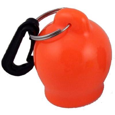 Scuba Diving Skum-Ball Regulator Mouthpiece Cover with Clip (Orange)