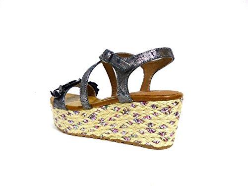 Sandales des HA924 Femme des Gris NOIR NOIR Femme CAFÈ CAFÈ HA924 Sandales Tqq6nBwZ5