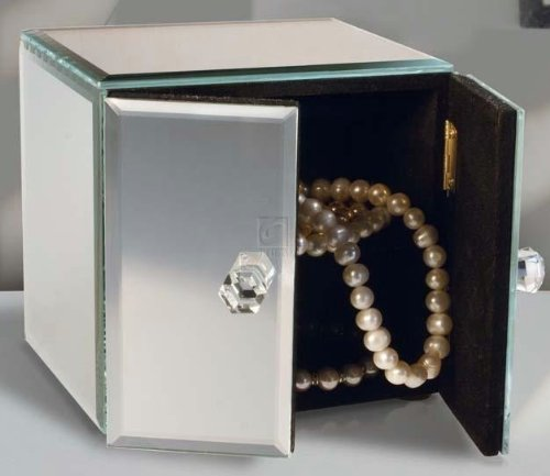 Allure by Jay Mirrored 2-Door Jewelry Box (Mirrored Keepsake Box)