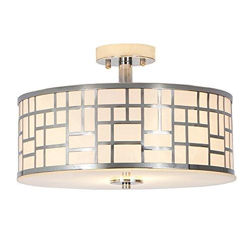 Chrome Semi Flush Ceiling Light (Glanzhaus 13