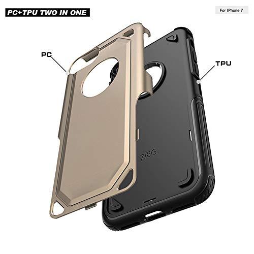 iPhone 8およびiPhone 7用のYIYME電話ケース衝撃吸収カバーアンチスクラッチバックTPUとPCケースゴールド   B07MPS1JLP
