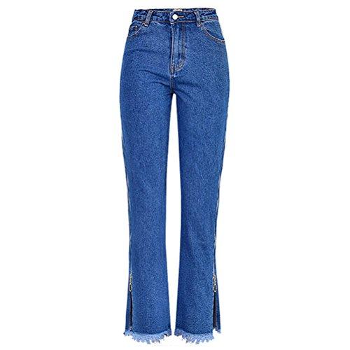 Pants Polainas Moda Otoño amp;amarillo Mezclilla Zhuhaitf Pantalones Pantalones Cómodo Pantalones Azul Elástico Calidad Señoras Denim Equipado a8qR8w0WAf