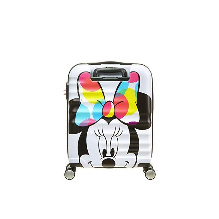 419juFObO%2BL Cintas cruzadas, separador con cremallera y bolsillo que facilitan organizar el equipaje Diseño moderno y colorido de Mickey y Minnie Superficie texturizada que protege de los arañazos