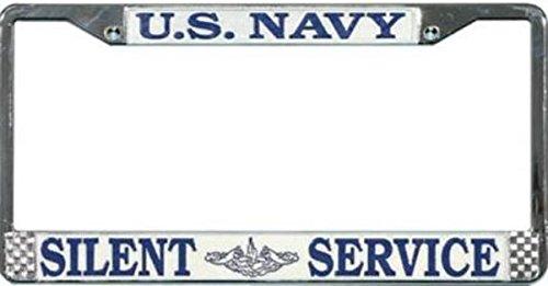 US Navy Submarine Silent Service License Plate (Navy License Plate Frame)