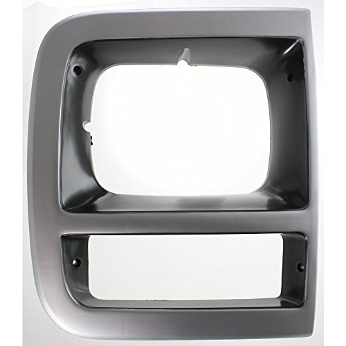 Evan-Fischer EVA18972010922 Headlight Door for Chevrolet Van Full Size 92-96 RH With Single Head Lamps Right Side -