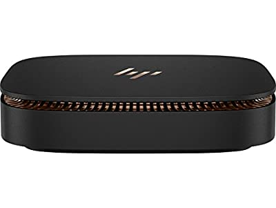 HP Elite Slice Ultra Small Form Factor, 8 GB RAM, 256 GB SSD, Intel HD Graphics, Black Sparkle/Metal Copper Finish (Z2H61UT#ABA)