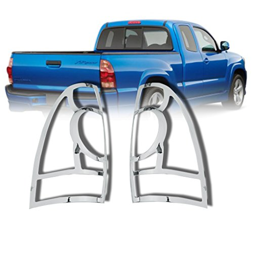 Chrome Plated Plastic Bezel - EAG 05-15 Toyota Tacoma Taillight Trim Bezels Cover Triple Chrome Plated (67-0504)