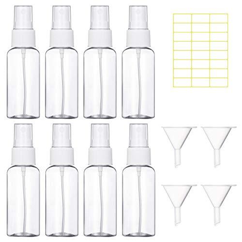 🥇 8 Piezas 30ml Bote Spray Botellas Vacía de Plástico Atomizadores Transparentes Contenedor de Pulverizador