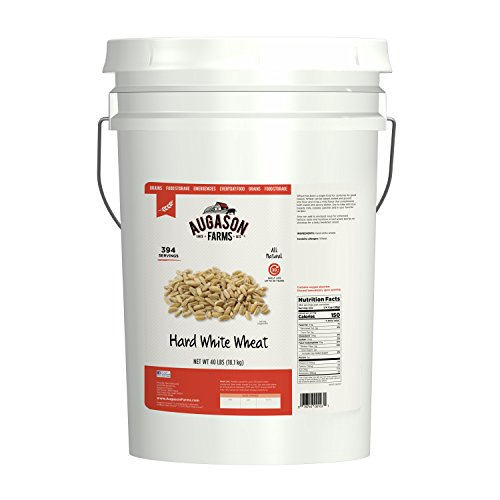 Farm Grain Whole - Augason Farms Hard White Wheat Emergency Food Storage 40 Pound Pail