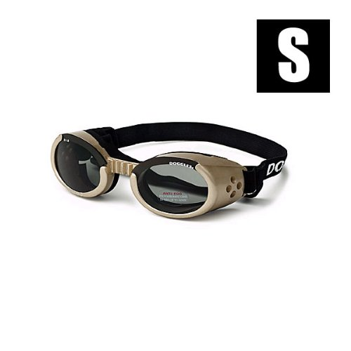 Doggles ILS Small Chrome Frame and Smoke Lens, My Pet Supplies