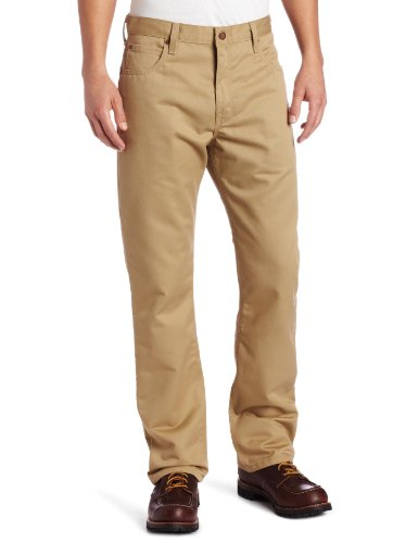 Dickies Men's Regular Straight Fit 5-Pocket Ring Spun Pant, Maple, 34x30
