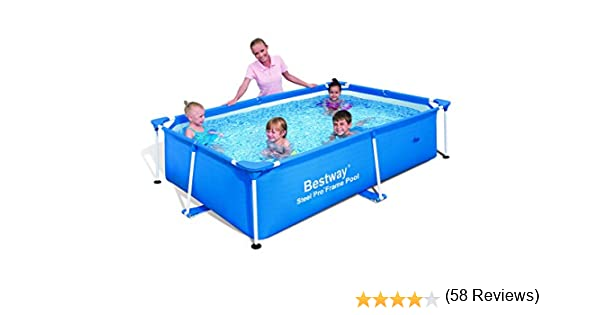 Bestway Splash Frame - Piscina Tubular, 239 x 150 x 58 cm: Amazon ...