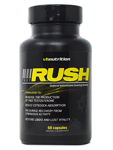 TestRush Testosterone Booster for Men by VH Nutrition