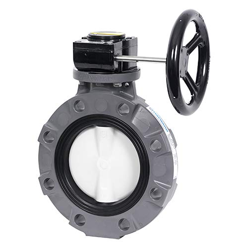 Hayward BYV14080A0ELI00 Series BYV Butterfly Valve, Lugged, Lever Operated, PVC Body, GFPP Disc, EPDM Seals, 8