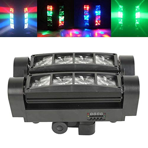 Galapara Spider Spot Moving Head Light LED DJ Lighting RGBW, 8 x 3W DMX 512 Dual Sweeper Pulse Strobe Effect Projector for Party, Restaurant, Live Concert, Lighting, KTV, Bar, Disco Projector ()