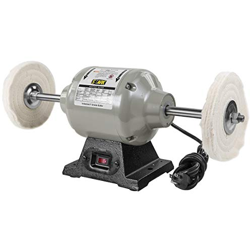 XtremepowerUS 6 inch Benchtop Buffer Polisher Grinder Heavy Duty 2.5 Amps 3,450rpm 1/2 HP
