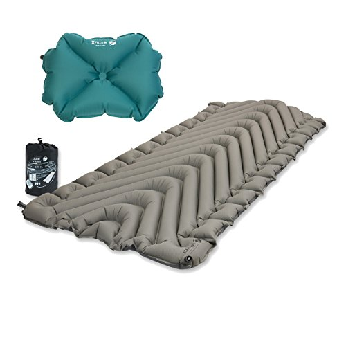 Klymit Static V Luxe Sleeping Pad X-Large Gray w/ Pillow X T