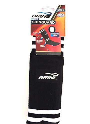 (Brine ACD-2 Sock'R Shin Guard Soccer Black)