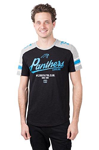 ICER Brands Adult Men T Varsity Stripe Short Sleeve Tee Shirt, Team Color, Black, X-Large