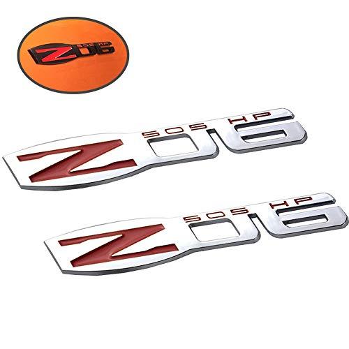 (UpAuto C6 Z06 Corvette Emblems Chevy 3D Badges Fender Sticker for 2006-2013 Chevrolet Corvette C6 C7 (Silver) )