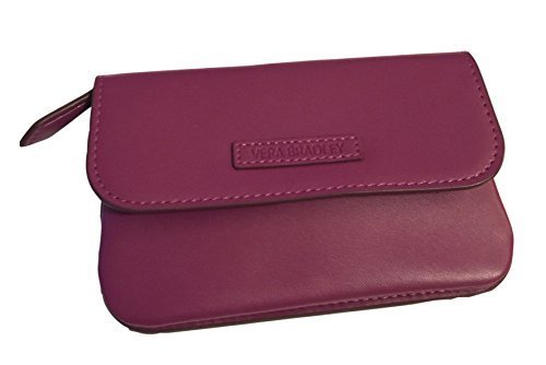 Vera Bradley Faux Leather Snap and Zip Case in Plum