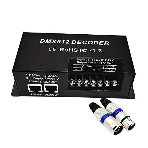 Dimmer Console (GIDERWEL 4 Channel DMX Decoder LED Strip RGBW Controller DMX Dimmer Driver 20A,DC12V-24V DMX512 Controller (RGBW DMX Decoder))