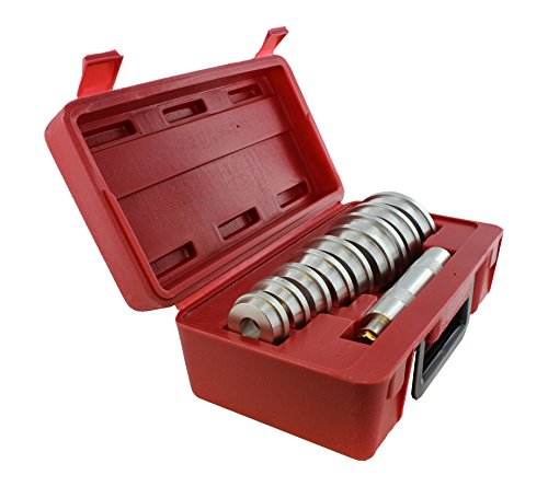 Seal Bush Driver Set with Carrying Case – Master/Universal Kit for Automotive Wheel Bearings (Shop Press)