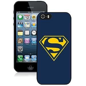 NEW Unique Custom Designed iPhone 5S Phone Case With Superman Yellow T-Shirt Logo_Black Phone Case