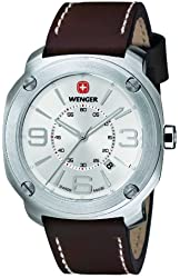 Wenger Men's 01.1051.101 Escort Analog Display Swiss Quartz Brown Watch
