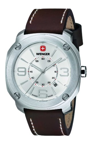 Wenger Men's 01.1051.101 Escort Analog Display Swiss Quartz Brown Watch