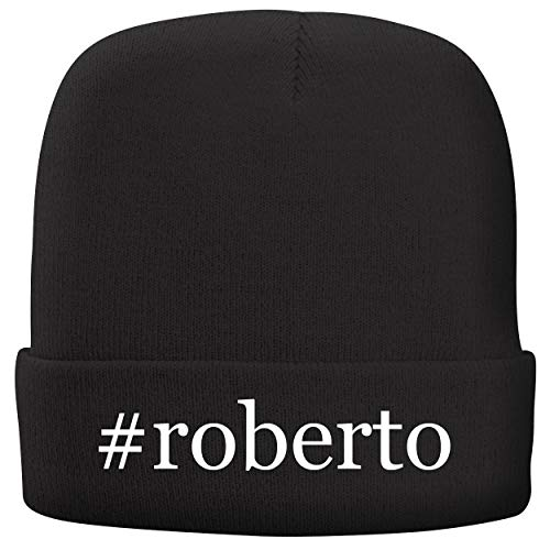 BH Cool Designs #Roberto - Adult Hashtag Comfortable Fleece Lined Beanie, Black