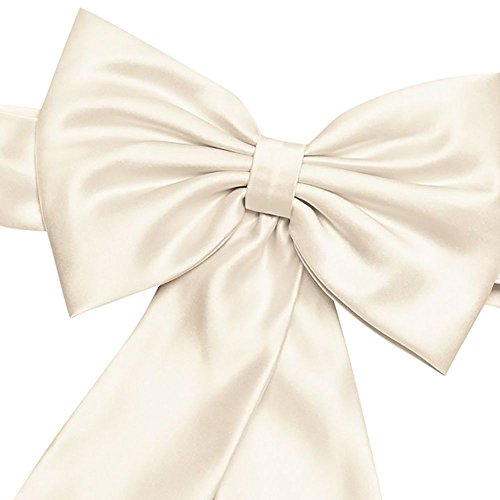Satin Flower Girl Sash with Back Bow Style S1041, Ivory from David's Bridal