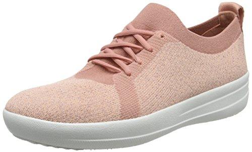 Pink Dusky FitFlop Metallic 5 Metallic Pink 612 Charbon Uberknit EU Sneakers Baskets F Sporty Femme 36 H6qP7RH