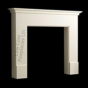 Electric or Gas Ivory Cream Mantel Mantle Piece Traditional ...