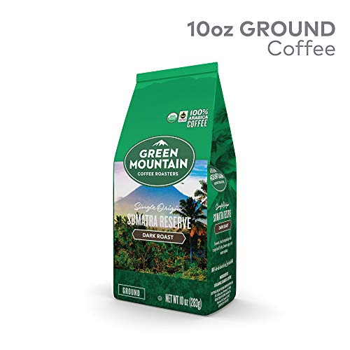 Green Mountain Coffee Roasters Fair Trade Certified Organic Sumatra Reserve Ground Coffee, Dark Roast, 10 Ounce