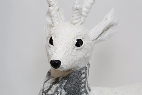 Natural Laying Snowy Deer - Mix Grey Scarf