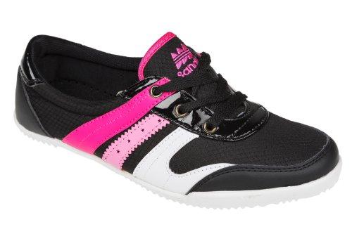 Unbekannt - Zapatillas para niña Negro - Noir - Nero / Rosa