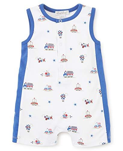 Kissy Kissy Baby-Boys Infant Honk Print Sleeveless Short Playsuit-Multicolored-3-6 Months